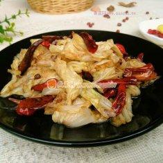 辣椒炝白菜的做法