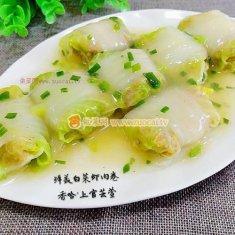 鲜美白菜虾肉卷的做法