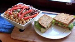金枪鱼三明治三豆沙拉 (Tuna Sandwich)的做法视频