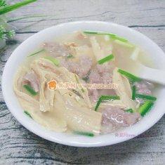腐竹肉片汤的做法
