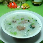 菜芯排骨大米粥的做法
