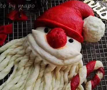 中式味道的圣诞美食 圣诞老人馒头