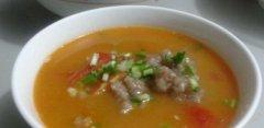 番茄滑肉汤的做法视频