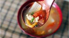 番茄白菜肉末汤的做法视频