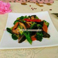 香菇炒西兰花的做法