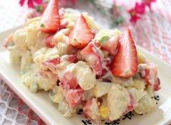 草莓沙拉的做法大全