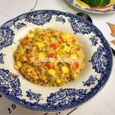 鲔鱼玉米蛋炒藜麦饭的做法