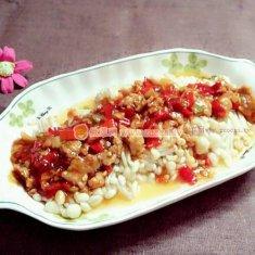 剁椒肉沫金针菇的做法