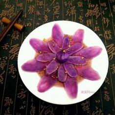 蓝莓汁紫山药的做法