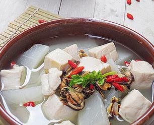 淡菜萝卜豆腐汤的家常做法