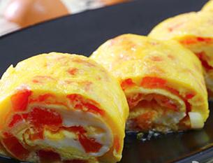 西红柿鸡蛋卷的做法 怎么做西红柿鸡蛋卷鲜香好吃
