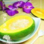 奶香木瓜炖雪蛤