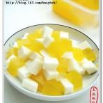 牛奶甜橙冻