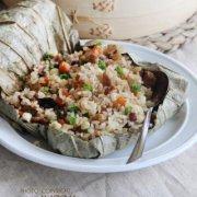 荷叶鸡肉糯米饭的做法