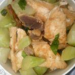 豆腐儿菜炖腊肉