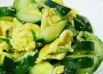 黄瓜炒蛋的家常做法