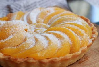 黄桃塔图片 如何用黄桃做完美的下午茶点心