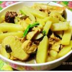 土豆炖腐竹