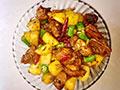 红烧兔肉焖土豆的做法