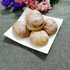 紫薯豆沙包的做法