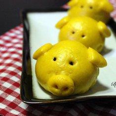 黄金小猪豆沙包的做法