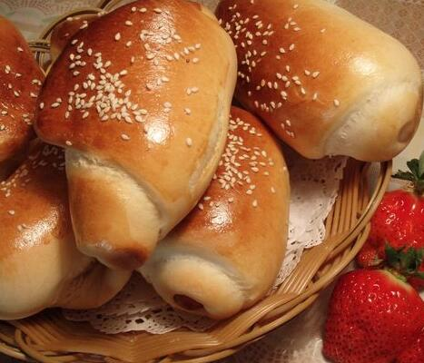 培根肠面包的家常做法