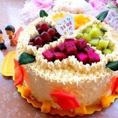 淡奶油水果蛋糕(巧克力蛋糕胚)的做法