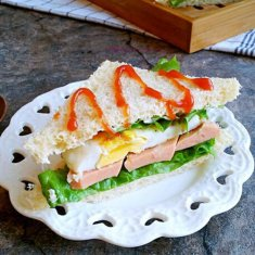 火腿蛋三明治的做法