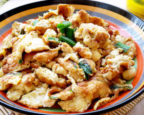 葱香黄金豆腐的家常做法