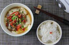 肉沫蒸豆腐套餐的做法