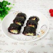 黑米寿司的做法