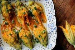 南瓜花酿肉的家常做法