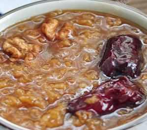 核桃黑芝麻粥的家常做法