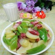 尖椒腊肉炒土豆的做法
